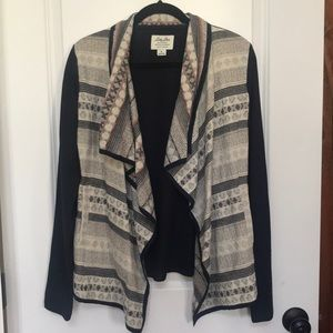 Lucky Brand Draped Front Cardigan. SZ small
